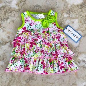 NWT Cutie Pie Cotton Ruffled Dress/Top 3/6 Months